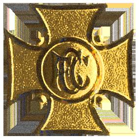 Concordia Catholicas emblem i form av ett gyllene kors
